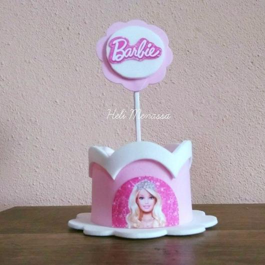 Lembrancinha da Barbie porta guloseimas em EVA