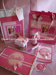 Lembrancinha da Barbie marmita personalizada