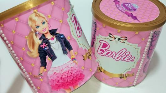 Lembrancinha da Barbie cofre personalizado