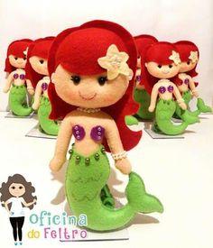 Lembrancinha Pequena Sereia de Feltro: Ariel