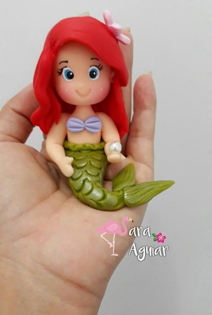 Lembrancinha Pequena Sereia de Biscuit: Ariel