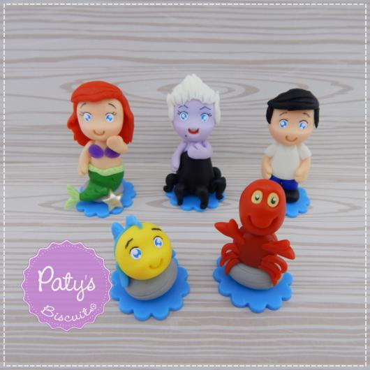 Lembrancinha Pequena Sereia de Biscuit: personagens