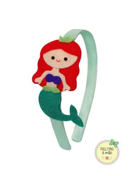 Lembrancinha Pequena Sereia de EVA: tiara