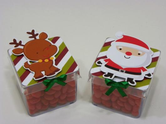 Lembrancinha simples para Natal caixinha personalizada