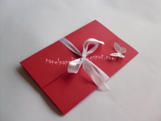 Papel para convite: convite em papel cartão vermelho