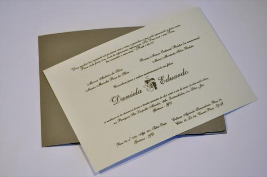 Papel para convite: convite de casamento em papel vergê
