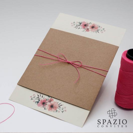 Papel para convite: convite de casamento em papel kraft