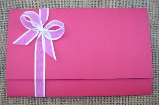 Papel para convite: convite rosa em papel color plus