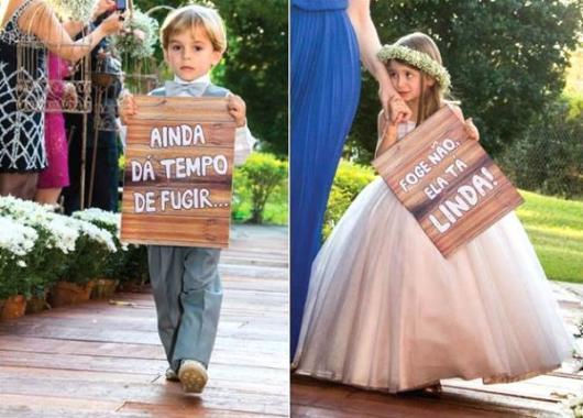 Plaquinhas para casamento para entrada da noiva