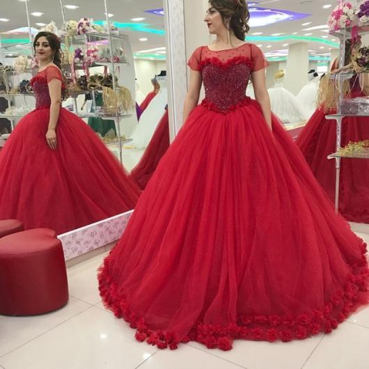 bc0134815e Vestido de Debutante Vermelho  60 Modelos Maravilhosos para Arrasar!