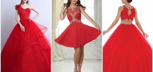 modelos lindos de vestidos vermelhos de debutante