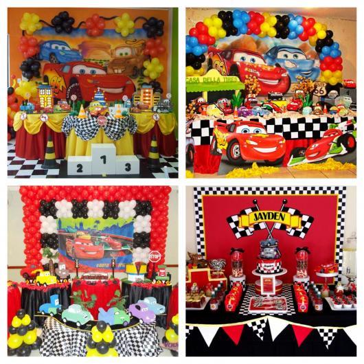 Sua festa temática merece um bolo fake Carros lindo e impecável!