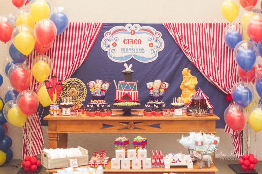 O tema Circo é muito recorrente em festas de 2 anos