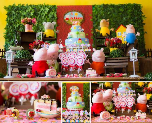Veja da Peppa Pig com decoração super colorida