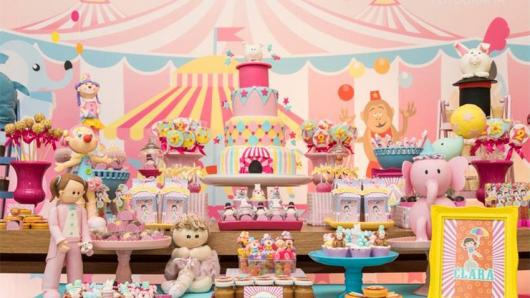 Olha só que decoração linda de festa com temática Circo