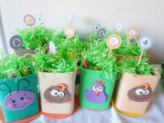 Vasinhos decorados com EVA