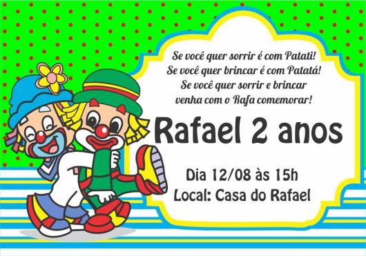 Modelo de convite divertido de convite Patati Patatá