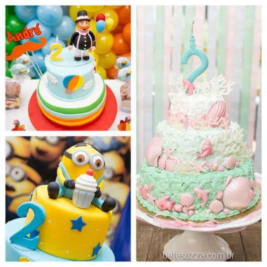 Dá para variar nos recheios e nas coberturas do bolo de festa de 2 anos!