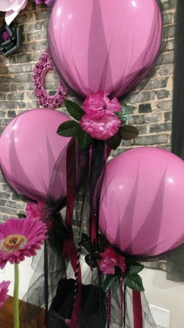 decoração rosa e preto