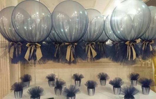 decoração em azul marinho