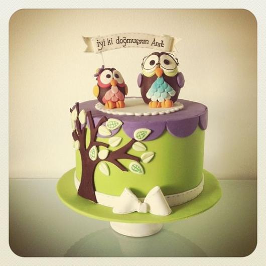 Topo de bolo de coruja