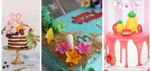 Os bolos tropicais estão na moda!