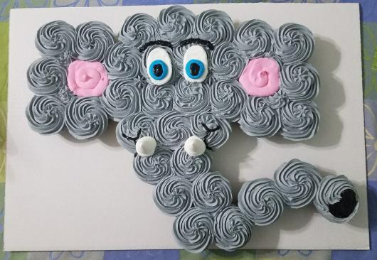 Cupcake Chá de Bebê: Escultura de lefantinho