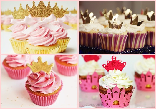 Cupcake Chá de Bebê para o tema Realeza inspirações