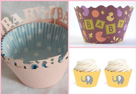 Cupcake Chá de Bebê: Detalhes decorativos