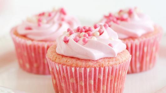 Cupcake Chá de Bebê: Rosa