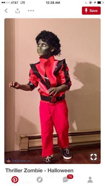 Fantasia de zumbi infantil: Michael Jackson
