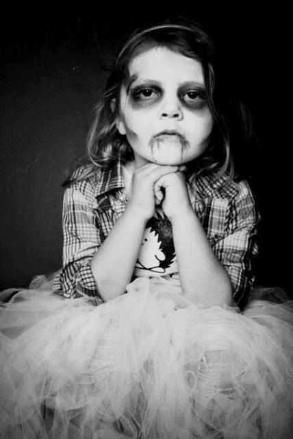 Fantasia de zumbi infantil: Noiva cadáver