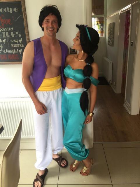 fantasia Aladdin e Jasmine
