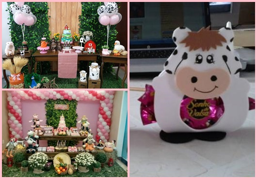 Festa fazendinha rosa inspirações de decoração