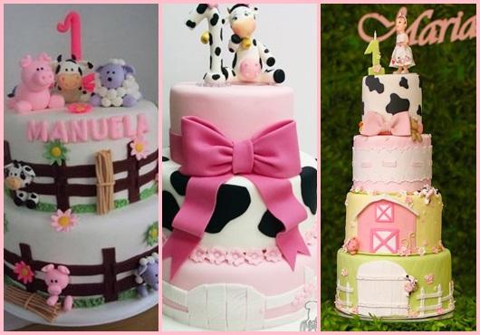 Festa fazendinha rosa inspirações para bolo