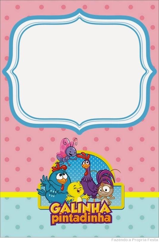 convite rosa e azul grátis