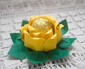 Forminhas para doces finos de papel crepom amarelo