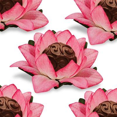 Forminhas para doces finos de papel crepom rosa