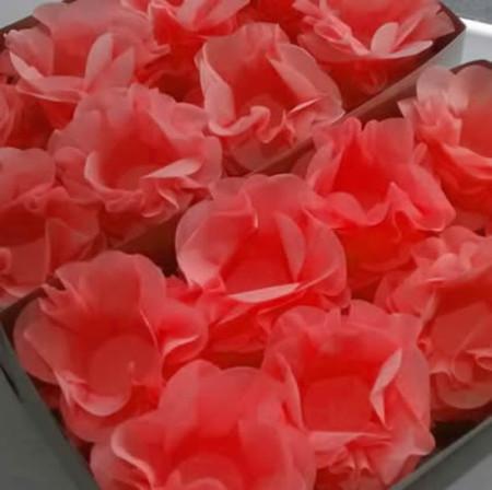 Forminhas para doces finos de papel crepom