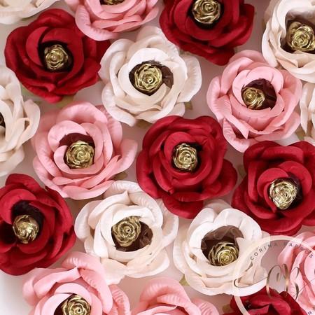 Forminhas para doces finos de tecido: Vermelha