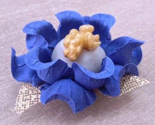 Forminhas para doces finos de tecido: Azul