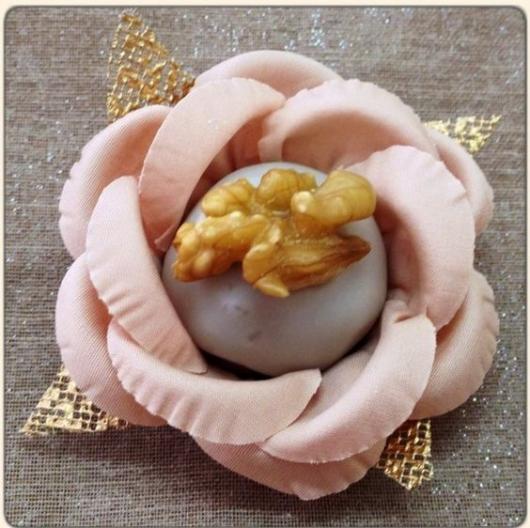 Forminhas para doces finos de tecido: Rosa