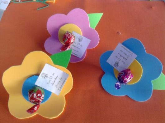 Lembrancinhas Primavera flor de EVA