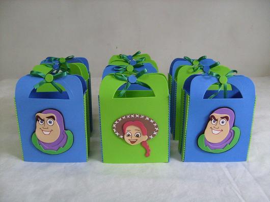 Sacolinha de EVA inspirado nos principais personagens do Toy Story