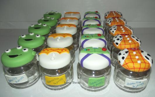 Tampinhas de biscuit com tema Toy Story