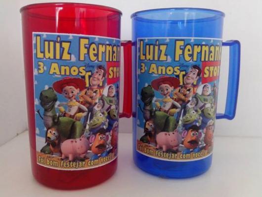Copos personalizados para festa Toy Story