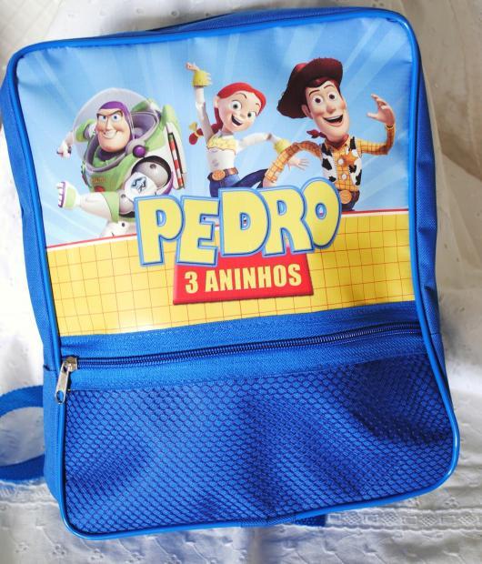Uma opção linda, porém mais cara: bolsa personalizada do Toy Story