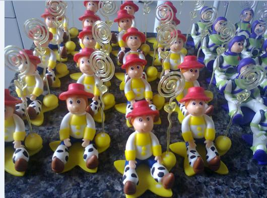 Porta recados do Toy Story feitos com biscuit