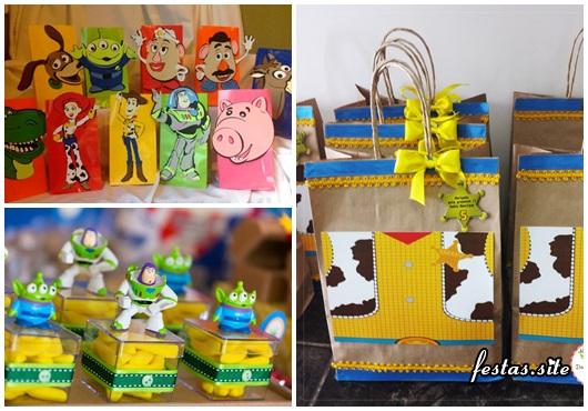 Possibilidades de lembrancinhas Toy Story criativas