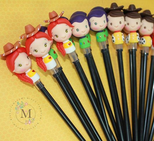 Ponteiras de lápis bem fofinhas do Toy Story